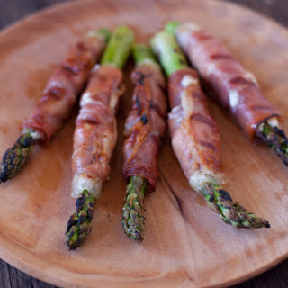 Goat Cheese Stuffed Prosciutto Wrapped Asparagus.