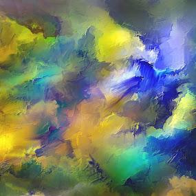 Der letzte Flug Glen Sande © 2016 Original Abstract Digital Painting created in Corel Painter 2016 by Glen Sande - Painting All Painting