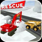 Heavy Snow Rescue Excavator 3D