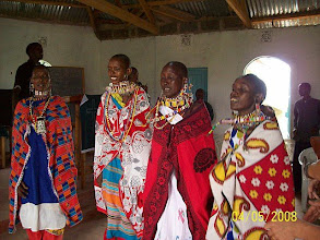 Photo: Maasai women dancing their praise to God