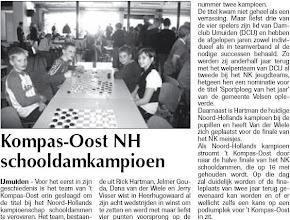 Photo: Kompas-Oost NH schooldamkampioen 26 maart 2009