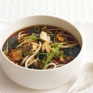 Mushroom And Noodle Broth.