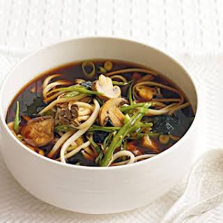 Mushroom And Noodle Broth.