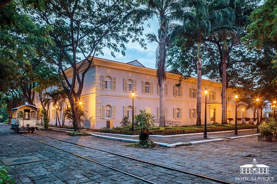 Hotel del Parque colonial exterior Parque Historico in Guayaquil