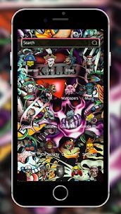 Rock Skull Graffiti Theme & Lock Screen & Call 2