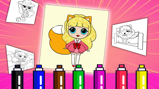 Coloring book dolls. Foxy Doll 3.1.107 screenshots 1