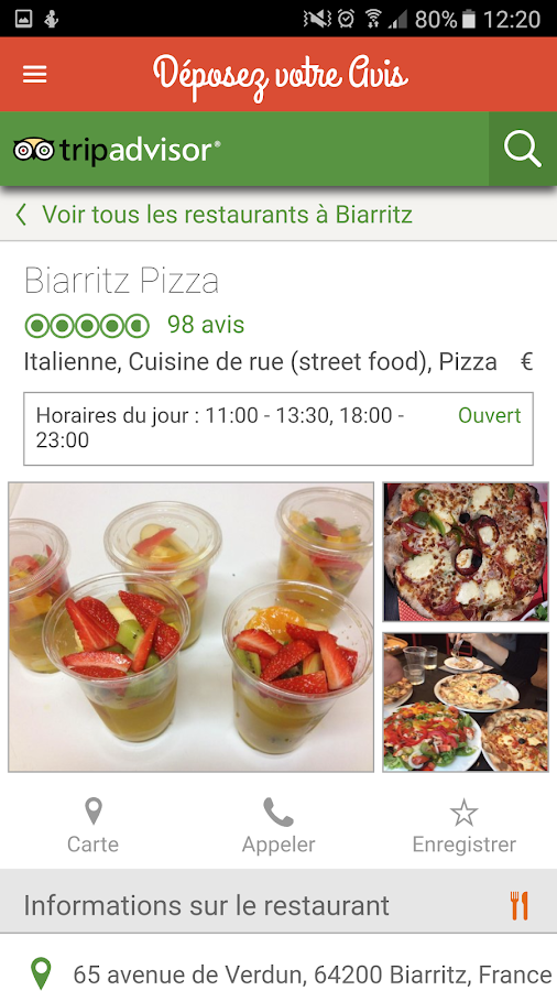 BIARRITZ PIZZA – Capture d'écran