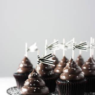 Moist Midnight Cocoa Cupcakes.