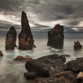 Guards by Bragi Ingibergsson - Nature Up Close Rock & Stone ( water, iceland, nature, brin, bragi j. ingibergsson, sea, beach, landscape, rokcs )