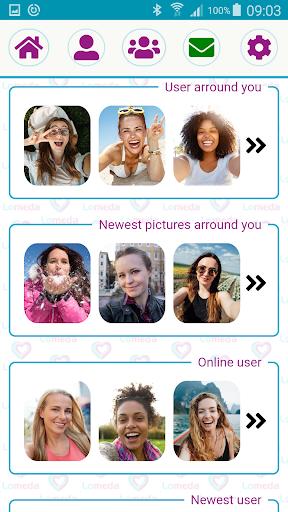 Free Dating App & Single Flirt Chat Meet by Lomeda 1.3 screenshots 3