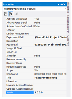Feature Versioning SharePoint 2013