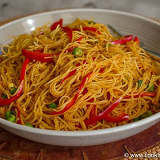 Curried Singapore Rice Noodles.