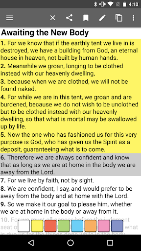 Bible Offline Screenshot