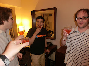 Photo: Cheers with Madbrain, Luis, and A-san.