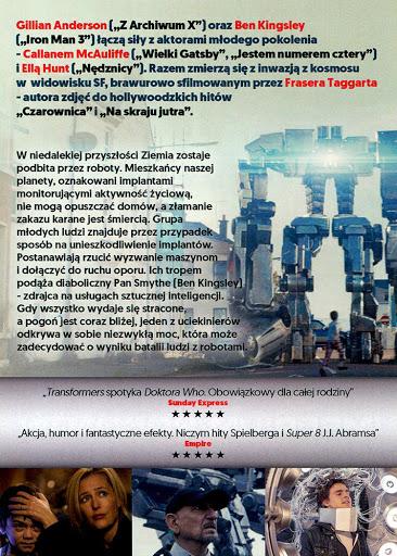 Tył ulotki filmu 'Imperium Robotów. Bunt Człowieka'