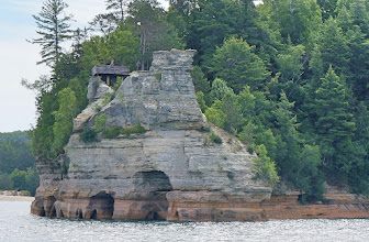 Photo: Miners Castle is the most famous formation of the Pictured Rocks.