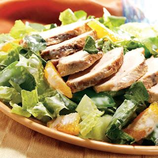 Warm Gingered Chicken Salad With Crispy Greens.