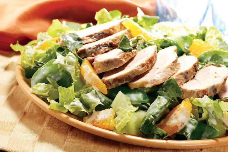 Warm Gingered Chicken Salad With Crispy Greens