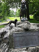 Photo: Malia at the Balto statue in Central Park, New York