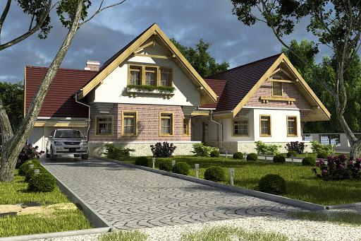 projekt Bolek i Lolek z garażem 1-st. A1