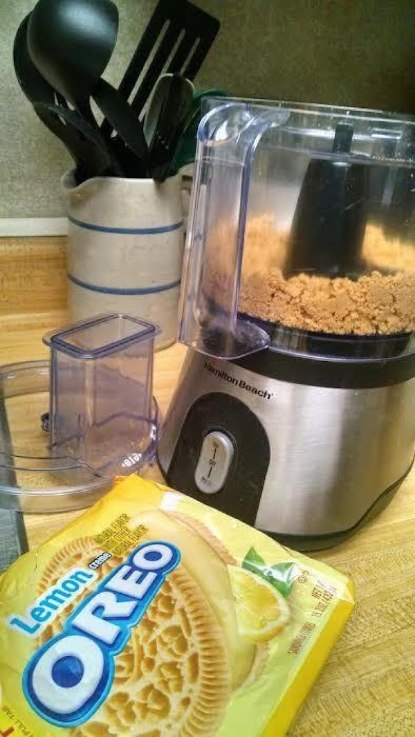 In a food processor, blender, or in a plastic bag with a rolling pin,...