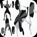 Bodybuilding workout tutorial icon
