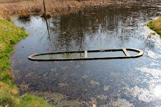 Photo: Fosa z zatopioną łódką