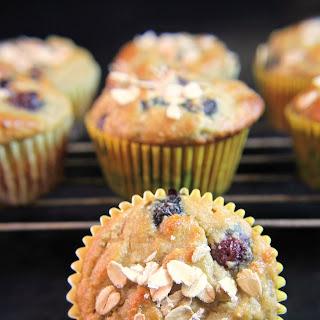 Blueberry Almond Flour Muffins.