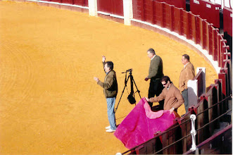Photo: The bull ring at Malaga. There was a film crew shooting a scene when we arrived.