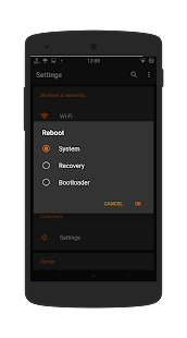 Dark Infusion Substratum Theme for Android N & O Screenshot