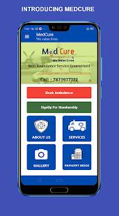Download Medcure - Emergency app, Ambulance booking For PC Windows and Mac apk screenshot 1