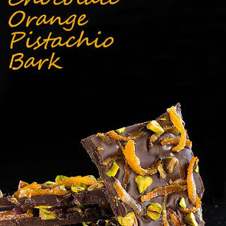 Chocolate Orange Pistachio Bark.