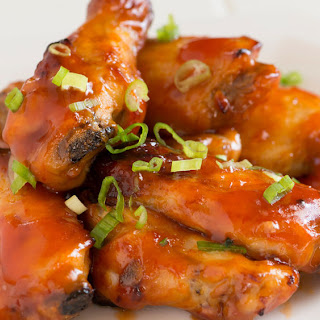Sweet and Sour Wings with Sriracha.