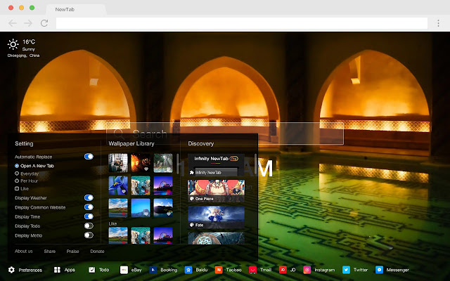 Mosque New Tab HD Popular Religion Theme