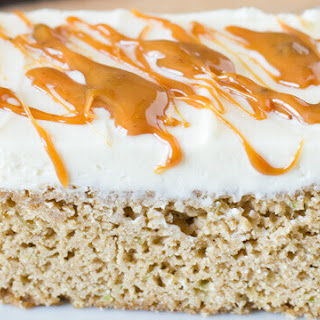 Frosted Caramel Zucchini Bars.