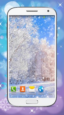 android Hiver Fond D'écran Animé Screenshot 2