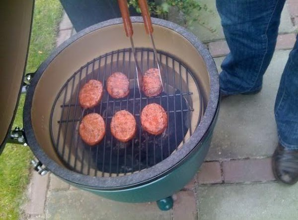 When the grill is ready ( Hot ) You can place the burgers on...