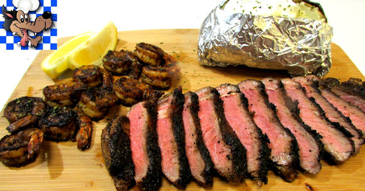 Cajun Blackened Surf and Turf - Steak and Shrimp Dinner Recipe