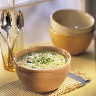 Corn and Roast Poblano Soup