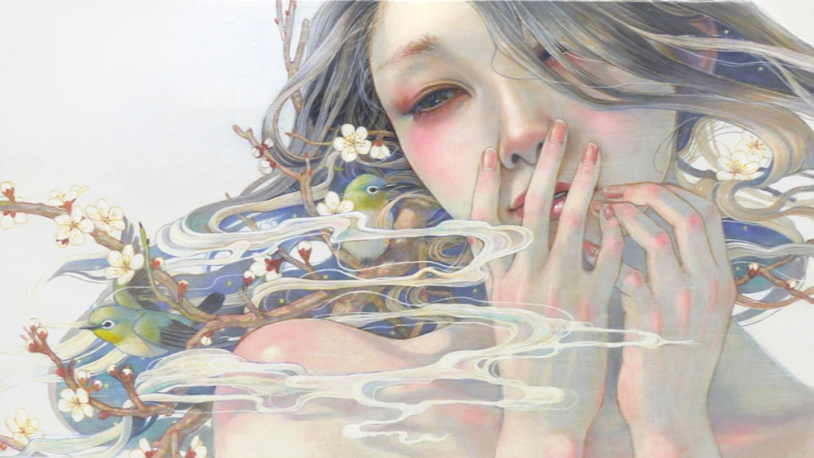 Image result for  sad women painting