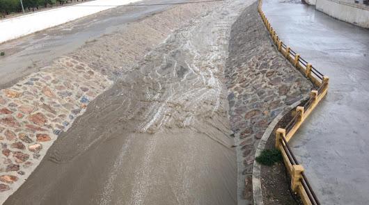 Una tromba de lluvia sacude a Albox y la comarca del Almanzora