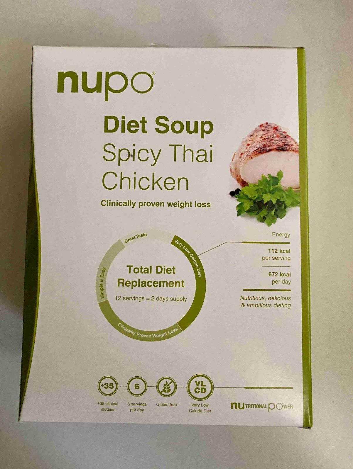 Recenze Vivantis: dieta NUPO - thajská polévka