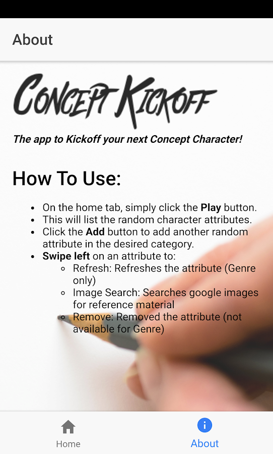 Concept Kickoff- screenshot