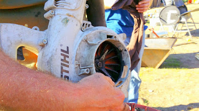 Photo: Metal impeller in the Stihl that works well for crushing biochar. Available as a modification kit from Stihl.