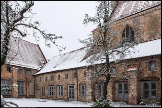 Photo: Das Kloster zum Heiligen Kreuz in Rostock wurde im Jahre 1270 durch Königin Margarete von Dänemark gestiftet.