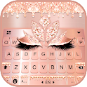 Rose Gold Drop Princess Keyboard Theme icon