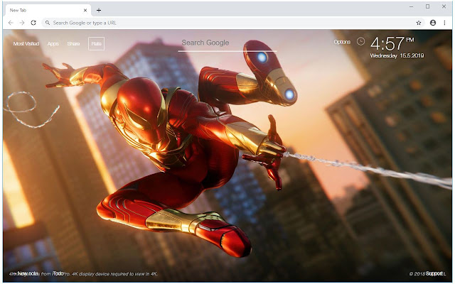 Spiderman & Iron Man HD Wallpapers New Tab