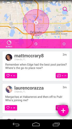 Bubble Social App