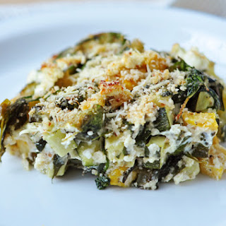 Baked Zucchini, Spinach, and Feta.