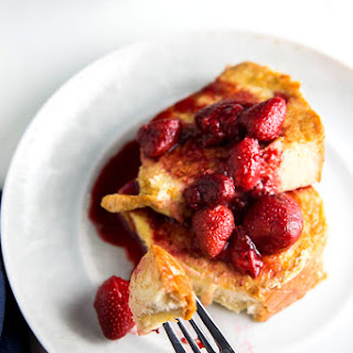 French Toast With Balsamic Strawberries